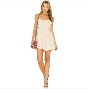 Free People beige linen dress